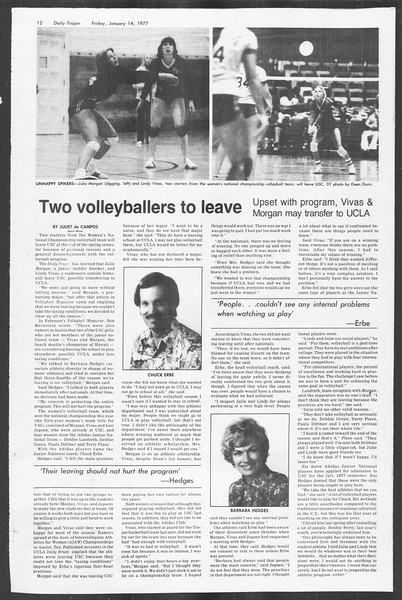 Daily Trojan, Vol. 70, No. 64, January 14, 1977