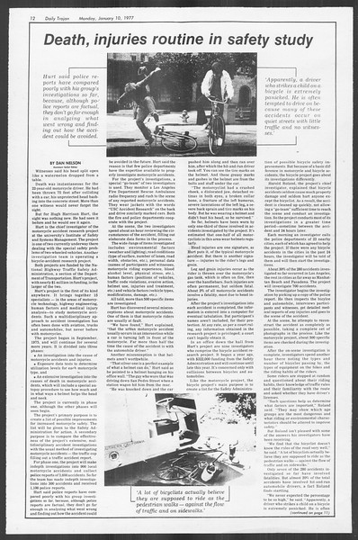 Daily Trojan, Vol. 70, No. 60, January 10, 1977