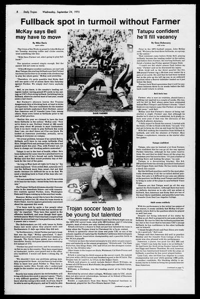 Daily Trojan, Vol. 68, No. 6, September 24, 1975