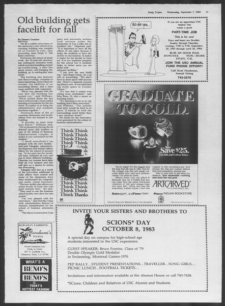 Daily Trojan, Vol. 94, No. 2, September 07, 1983