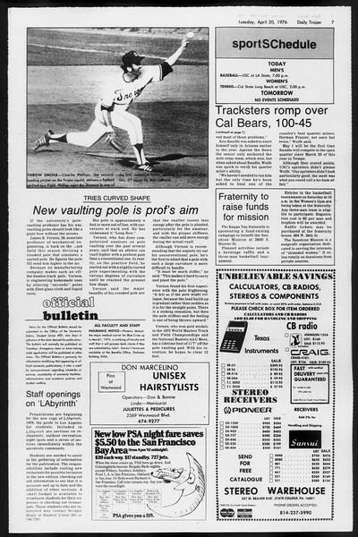 Daily Trojan, Vol. 68, No. 112, April 20, 1976