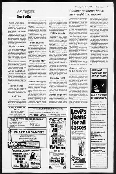 Daily Trojan, Vol. 68, No. 91, March 11, 1976