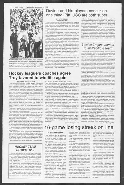 Daily Trojan, Vol. 70, No. 45, December 01, 1976