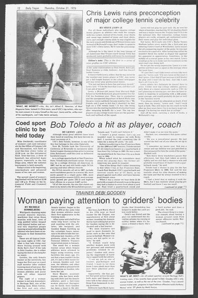 Daily Trojan, Vol. 70, No. 23, October 21, 1976