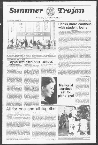 Summer Trojan, Vol. 72, No. 6, July 15, 1977