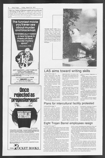 Daily Trojan, Vol. 71, No. 27, March 18, 1977