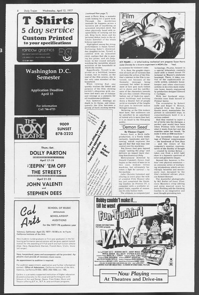 Daily Trojan, Vol. 71, No. 38, April 13, 1977
