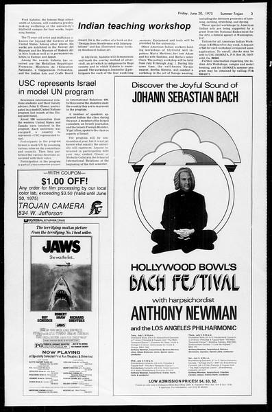 Summer Trojan, Vol. 68, No. 2, June 20, 1975