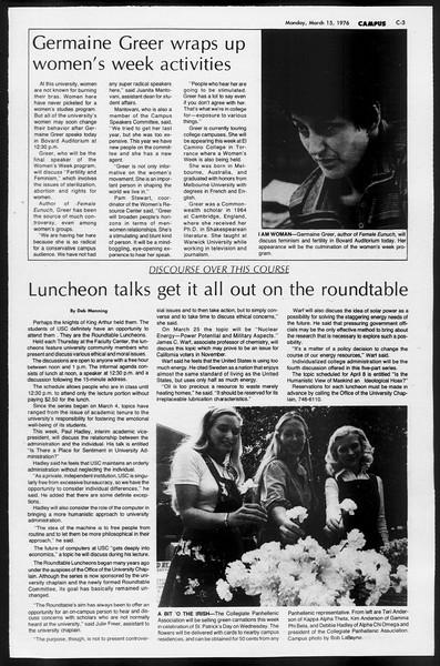 Daily Trojan, Vol. 68, No. 93, March 15, 1976