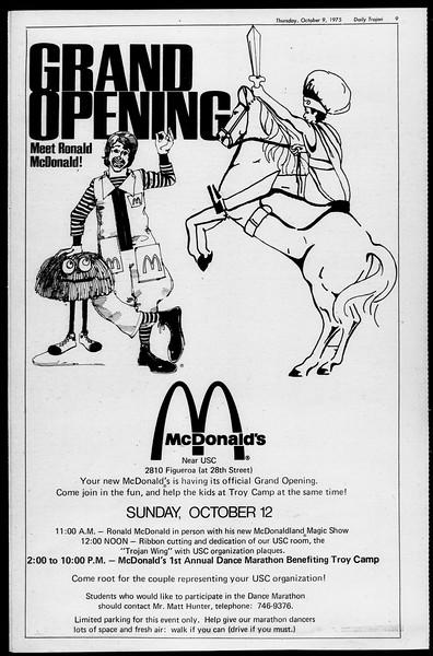 Daily Trojan, Vol. 68, No. 17, October 09, 1975