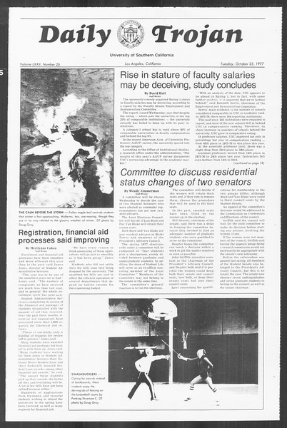 Daily Trojan, Vol. 72, No. 26, October 25, 1977