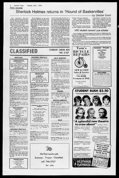 Summer Trojan, Vol. 68, No. 5, July 01, 1975