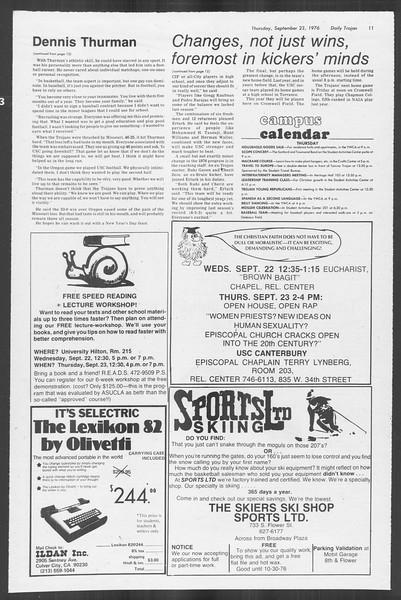 Daily Trojan, Vol. 70, No. 4, September 23, 1976