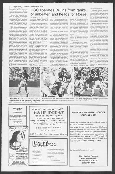 Daily Trojan, Vol. 70, No. 42, November 22, 1976