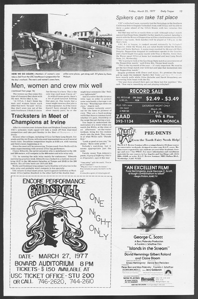 Daily Trojan, Vol. 71, No. 32, March 25, 1977
