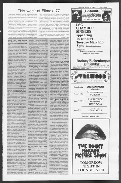 Daily Trojan, Vol. 71, No. 21, March 10, 1977