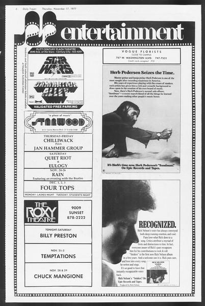 Daily Trojan, Vol. 72, No. 42, November 17, 1977