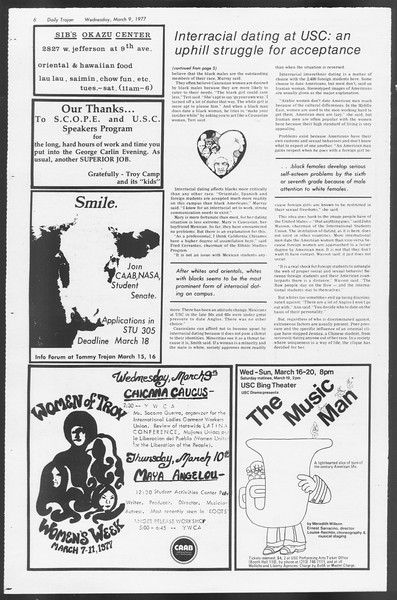 Daily Trojan, Vol. 71, No. 20, March 09, 1977
