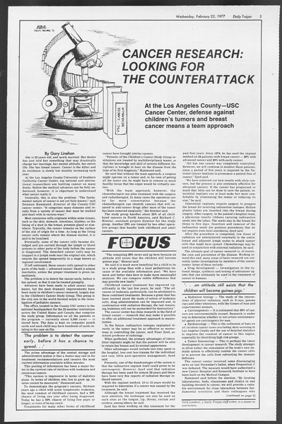 Daily Trojan, Vol. 71, No. 10, February 23, 1977