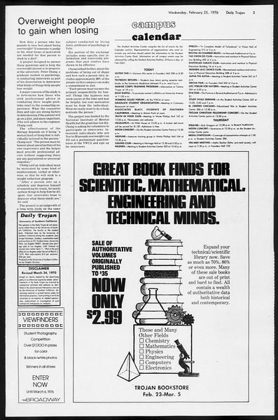 Daily Trojan, Vol. 68, No. 80, February 25, 1976