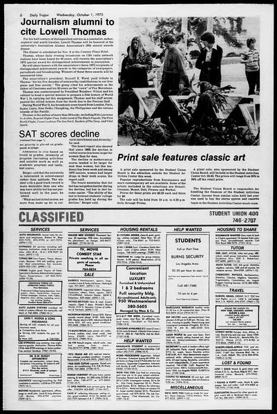 Daily Trojan, Vol. 68, No. 12, October 01, 1975