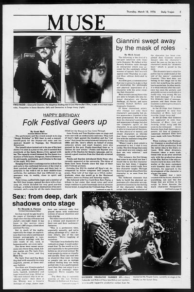 Daily Trojan, Vol. 68, No. 96, March 18, 1976