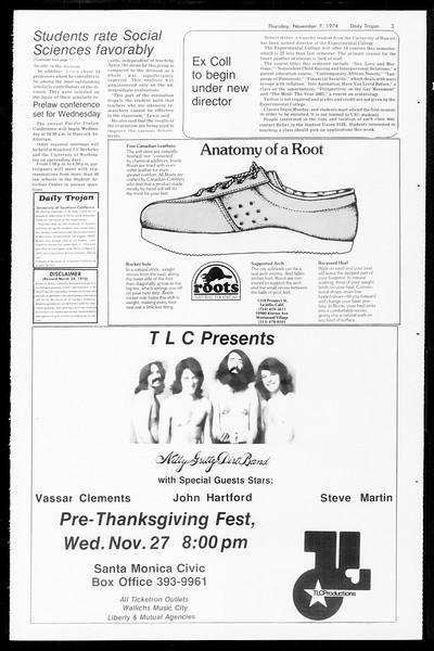 Daily Trojan, Vol. 67, No. 38, November 07, 1974