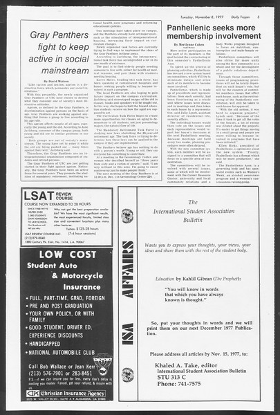 Daily Trojan, Vol. 72, No. 35, November 08, 1977