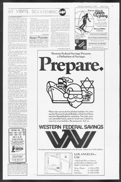 Daily Trojan, Vol. 72, No. 32, November 03, 1977