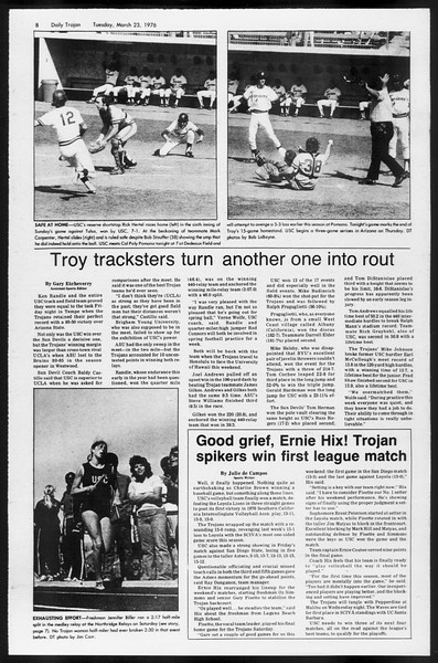Daily Trojan, Vol. 68, No. 99, March 23, 1976