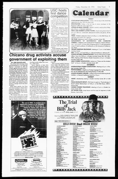 Daily Trojan, Vol. 67, No. 47, November 22, 1974