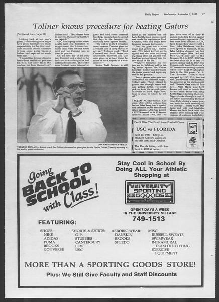 Daily Trojan, Vol. 94, No. 2, September 07, 1983