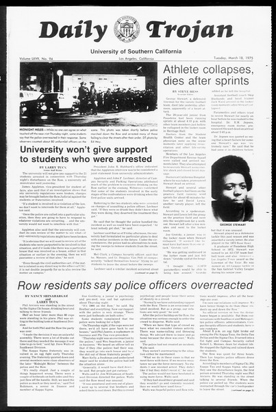 Daily Trojan, Vol. 67, No. 94, March 18, 1975