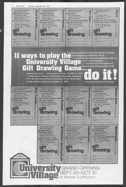 Daily Trojan, Vol. 70, No. 9, September 30, 1976
