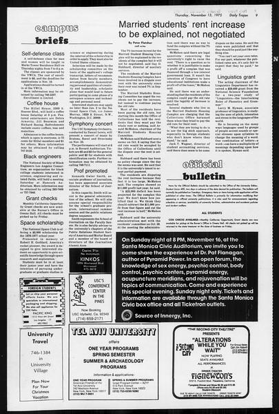 Daily Trojan, Vol. 68, No. 40, November 13, 1975