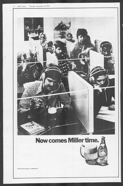 Daily Trojan, Vol. 70, No. 40, November 18, 1976