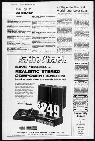 Daily Trojan, Vol. 68, No. 35, November 06, 1975