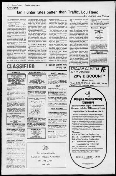 Summer Trojan, Vol. 68, No. 6, July 08, 1975