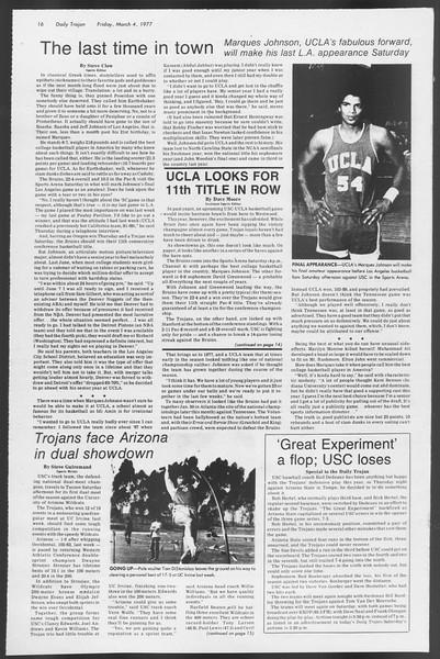 Daily Trojan, Vol. 71, No. 17, March 04, 1977