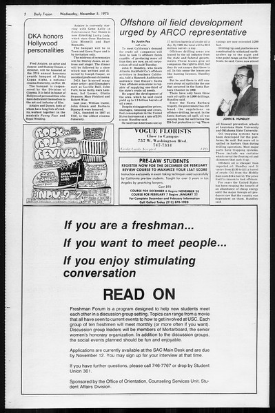 Daily Trojan, Vol. 68, No. 34, November 05, 1975