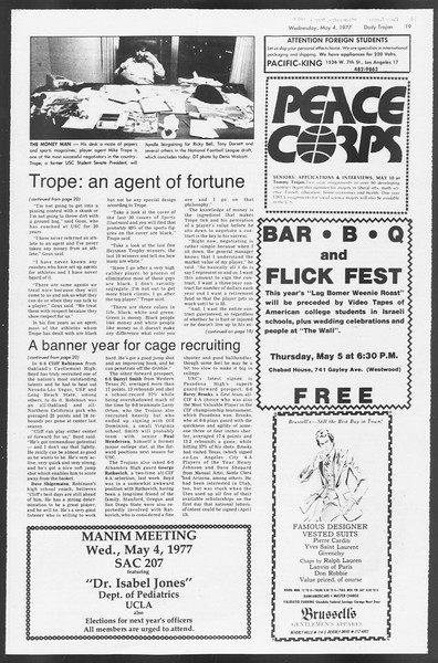 Daily Trojan, Vol. 71, No. 52, May 04, 1977