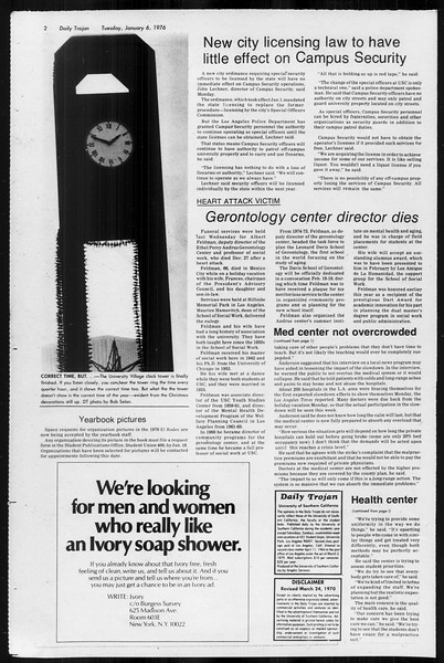 Daily Trojan, Vol. 68, No. 61, January 06, 1976