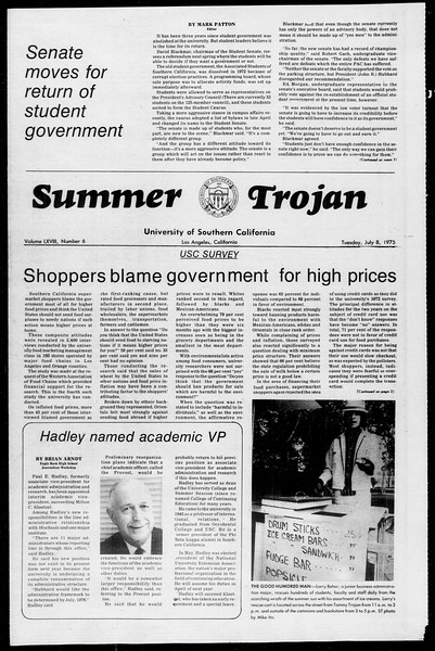 Summer Trojan, Vol. 68, No. 6, July 08, 1975