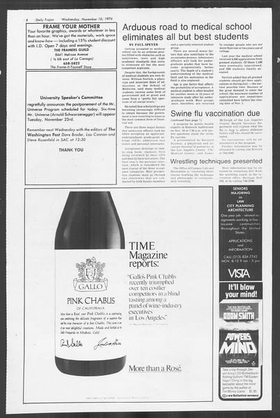 Daily Trojan, Vol. 70, No. 35, November 10, 1976