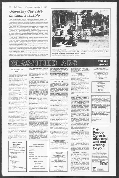 Daily Trojan, Vol. 72, No. 3, September 21, 1977