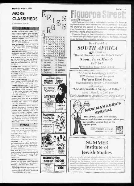 SoCal, Vol. 67, No. 121, May 05, 1975
