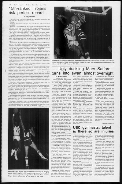 Daily Trojan, Vol. 68, No. 57, December 12, 1975