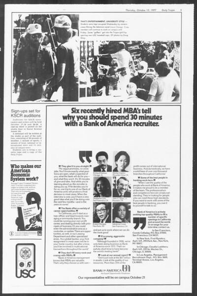 Daily Trojan, Vol. 72, No. 18, October 13, 1977