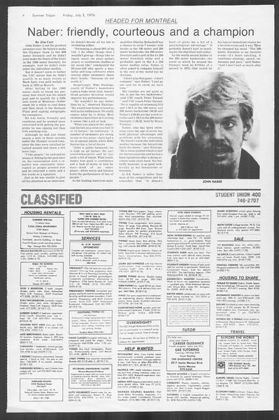 Summer Trojan, Vol. 69, No. 6, July 02, 1976
