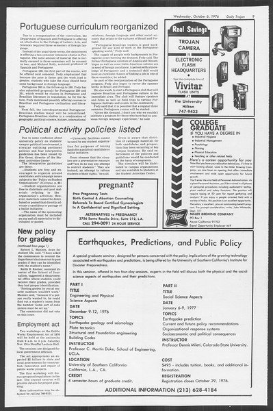 Daily Trojan, Vol. 70, No. 13, October 06, 1976